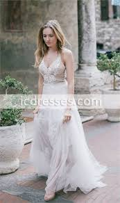 simple wedding dress see through lace wedding dress country