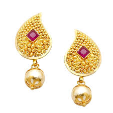 gold earings chandukaka saraf sons pvt ltd