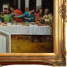the last supper by leonardo da vinci framed painting print