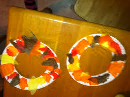 fall crafts paper plate fall wreath and finger paint fall tree