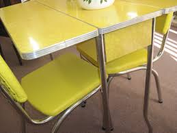 yellow kitchen table and chairs 1950 kitchen table and chairs kenangorgun com