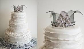 glass wedding cake toppers antique crown cakes cake magazine