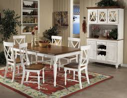 surprising white and wood dining table all dining room