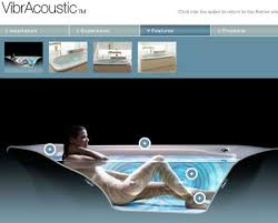 Transparent Bathtub Kohler Vibracoustic The Vibrating Music Playing Light Up Bathtub