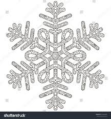 hand drawn antistress snowflake template cover stock vector