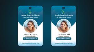 id card graphic design company id card design tutorial photoshop cc 2017 youtube