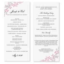 sale diy printable wedding program template by karmakweddings