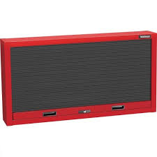 wall mounted tool cabinet teng tcb135 1 3 metre wide tool cabinet with roller shutter for wall