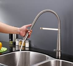 Restaurant Style Kitchen Faucet Ruvati Rvf1225bn Single Handle Pull Down Kitchen Faucet Stainless