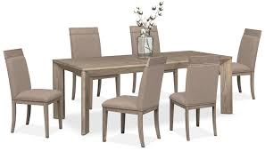 gavin table and 6 side chairs graystone american signature