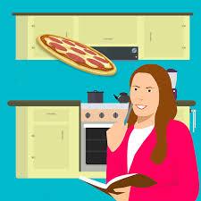cuisine dessin animé dessin animé femme à la cuisine image gratuite sur pixabay