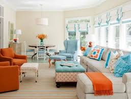 Living Room With Orange Sofa Innovative Ideas Teal And Orange Living Room Projects Idea Blue
