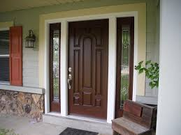 Solid Wood Exterior Doors Stunning Wood Entry Doors Applied For Home Exterior Design Image