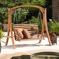 Swing Bench Outdoor by Boyd Outdoor Wood Swinging Bench And Base U2013 Noble House Furniture