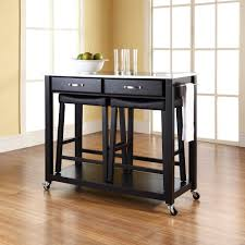 black kitchen island with stools black kitchen island with stainless steel top furniture mobile