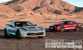 mustang stingray 2014 pfadt race engineering 2014 corvette stingray vs 2014 mustang