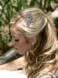 rhinestone bridal haircomb vintage style hair brooch art deco