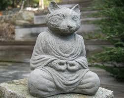 cat statue etsy