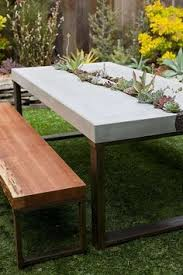 Concrete Table And Benches Concrete Outdoors Ideas An Elegant Outdoors Project Concrete