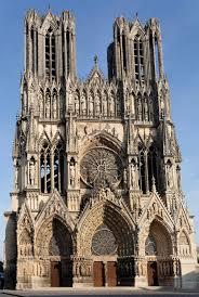 façade de la cathédrale de reims xiii e xiv e s atc moyen age