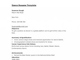 Dance Resume Template Download Dance Resume Template Haadyaooverbayresort Com