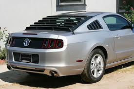 2014 mustang rear mach speed abs rear window louvers free shipping