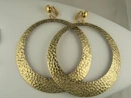 hoop clip on earrings the clip on earring store stylist large hoop clip on