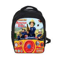 cartoon fireman sam backpack thomas friends robocar poli