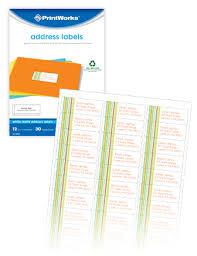printworks labels envelopes