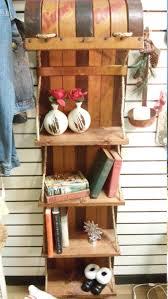 free shipping upcycled antique wooden toboggan book shelf rack