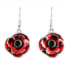 poppy earrings poppy drop earrings historic association of newfoundland