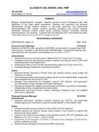 Resume Miami Finance Manager In Miami Ft Lauderdale Fl Resume Elizabeth Del