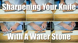 how to sharpen your knife with a water stone youtube