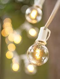 led globe string lights g40 bulb 50 ft white c7 strand warm white