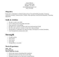 bartender objective resume free bartender resume builder cover