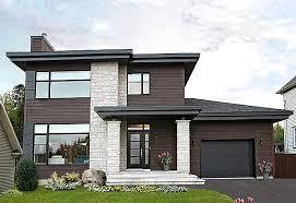 plan 22322dr stately modern with garage modern house plans