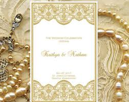 how to make your own wedding programs wedding ceremony program template vintage gold