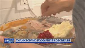 thanksgiving food prices on a 5 year decrease