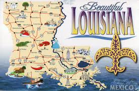 Louisiana natural attractions images Louisiana attractions map map jpg