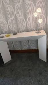 White Gloss Console Table White Gloss Console Table Plus Nest If Two Round Tables Fr Dwell