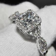 wedding rings luxury images High quality fake diamond rings wedding promise diamond jpg