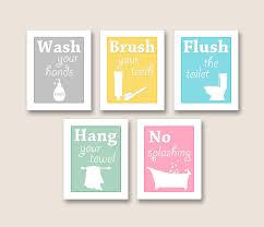 art for bathroom ideas bathroom artwork you choose any colors set by finaltouchesartwork
