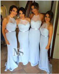 amsale bridesmaid turquoise amsale bridesmaid dresses mermaid halter backless