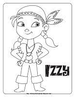 smee jake neverland pirates colouring pages pirate