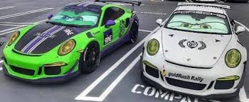porsche 911 gt3 rs pair impersonates cars movie characters