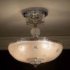 Nautical Ceiling Light Fixture by Vintage Art Deco Pink Hobnail Glass Ceiling Light Fixture Lamp