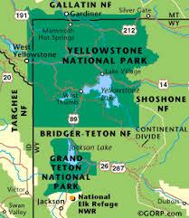 grand national park map regional field trip
