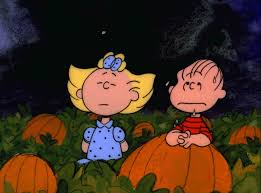 snoopy halloween background linus and sally mistake snoopy for the great pumpkin