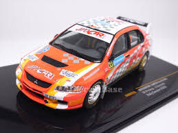 mitsubishi race car ixo ram319 1 43 mitsubishi lancer evolution ix 33 12th fia wrc 3 pwrc