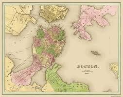 Suffolk County Massachusetts Maps And Old City Map Boston Massachusetts 1841